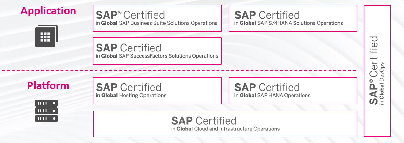 Infographic with an overview of SAP certificates